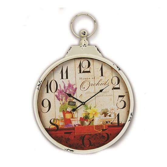 Time Gold Flower Duvar Saati-50*68cm TG367