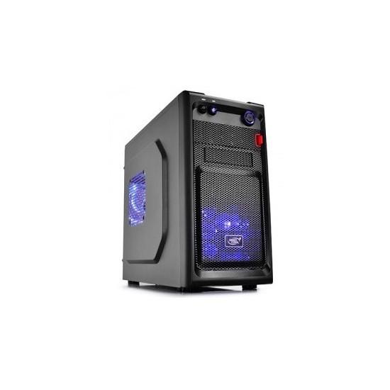 Deep Cool Smarter LED 1xUSB 2.0, 1xUSB 3.0, 1xAudio, 1xMic Siyah mATX Kasa
