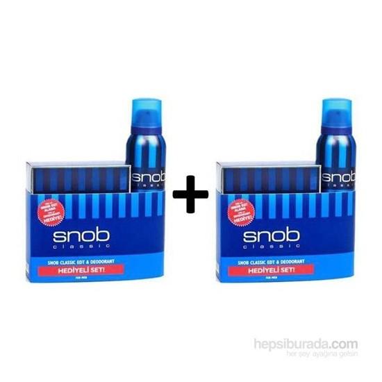 Snob Classic Edt 100Ml Erkek Parfüm +Deodorant Parfüm Seti 2 Adet