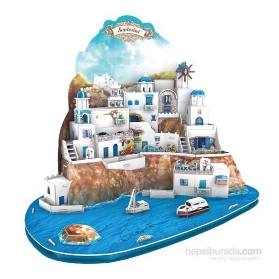 Cubic Fun 129 Parça Santorini Adası 3D Puzzle