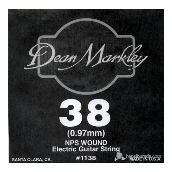 Dean Markley Nickel Steel Wounded .038 Elektro Gitar Telleri
