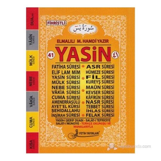41 Yasin Türkçe Okunuşlu Mealli - Çanta Boy (Fo20)-Elmalılı Muhammed Hamdi Yazır
