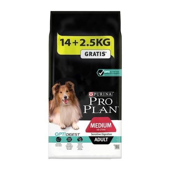 Pro Plan Adult Digestion Lamb Kuzu Etli Köpek Maması 14 + 2.5 kg