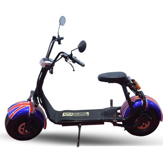 Quality Motors Elektrikli Scooter - İngiliz Bayrağı - E Scooter