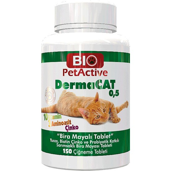 Pet Active Biopetactive Dermacat Brewers 150 Tablet