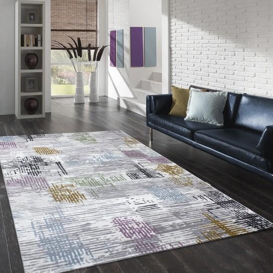 Merinos GOLD 18008-095 150x233 cm Işıltılı Renkler Modern Halı