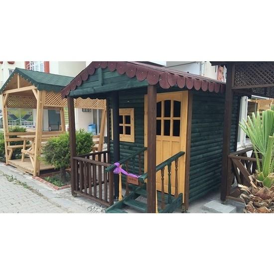 Garden Mobilya Ahşap Çocuk Oyun Evi 2
