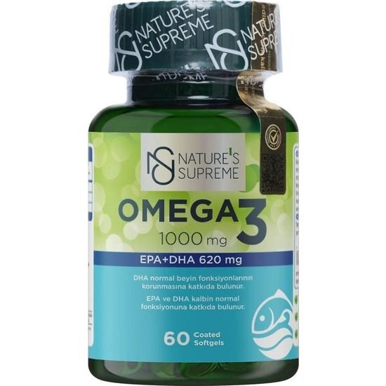 Nature's Supreme Omega 3 1000 Mg 60 Kapsül