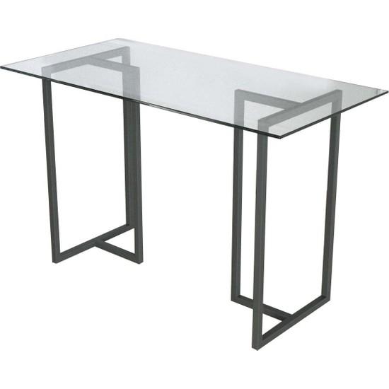 Evka Metal Potrica Yemek Masası - Siyah