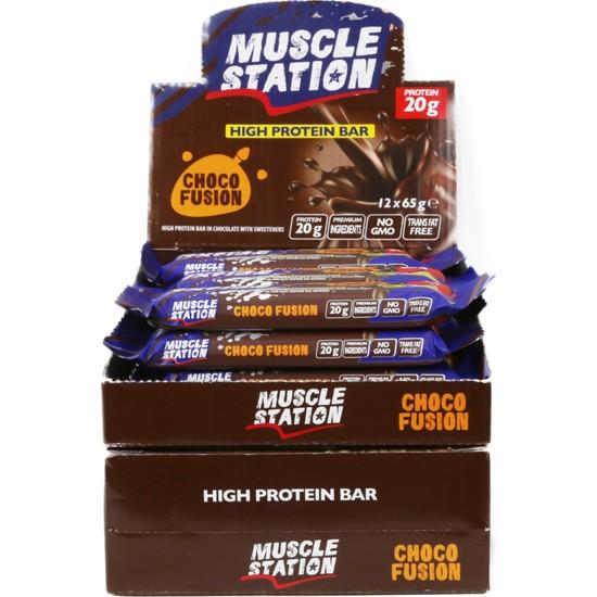 Musclestation 12li Protein Bar (Whey & Casain) Choco Fusion