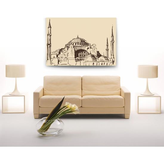 Evdeka Sultanahmet Çizimli Kanvas Tablo