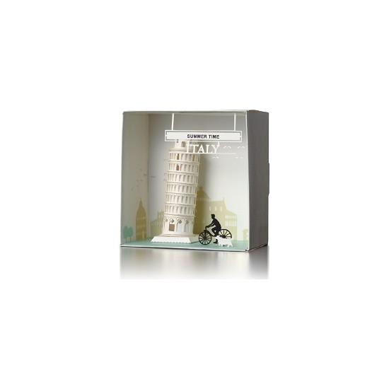 Wooderfullıfe 9025102 Kendin Yap 3D Karton Puzzle İtalya Pizza Kulesi