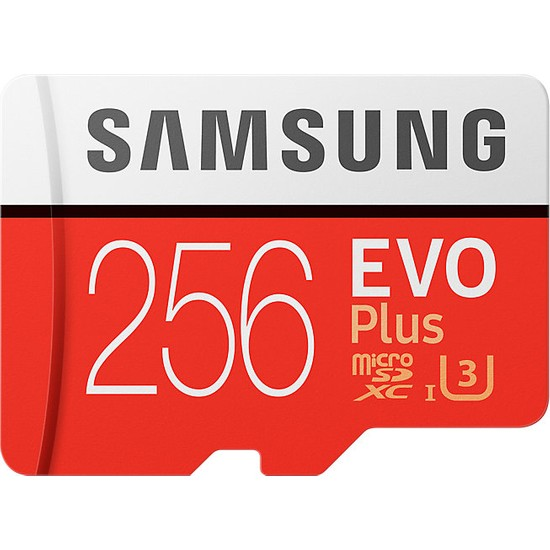 Samsung EVO Plus 256GB 100 MB/s microSDXC Kart (SD Adaptör) MB-MC256GA/EU