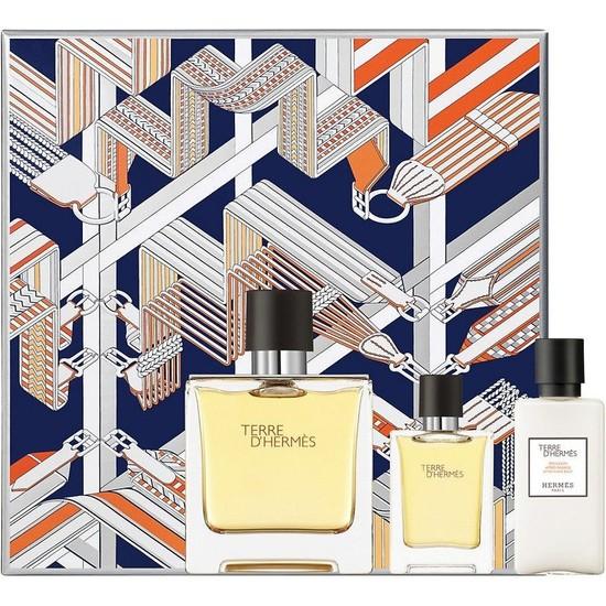 Hermes Terre D'Hermes Pure Parfum Edp 75 Ml Erkek Parfüm + 7.5 Ml + 40 Ml Tıraş Sonrası Losyon Jel