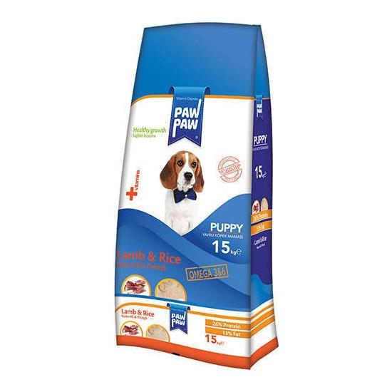 Paw Paw Kuzu Etli Ve Pirinçli Yavru Köpek Maması 15 Kg