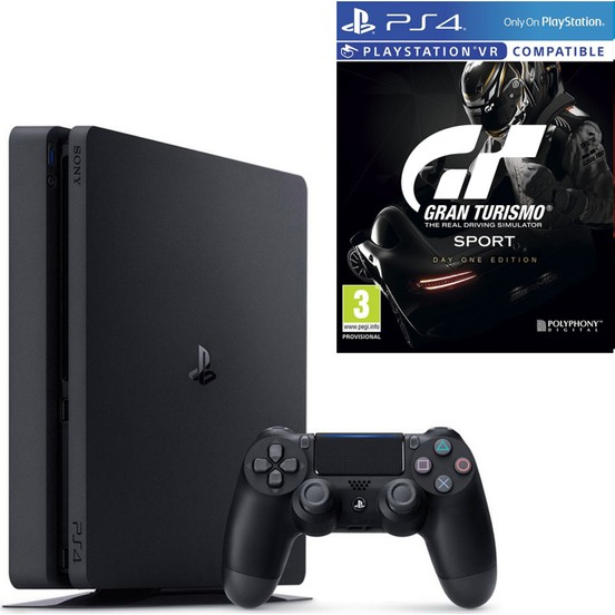 Sony PlayStation 4 Slim 500 GB Oyun Konsolu + Gran Turismo Sport Day One Edition