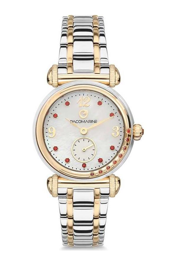 Pacomarine Leather Strap Women's Watch 61110-06