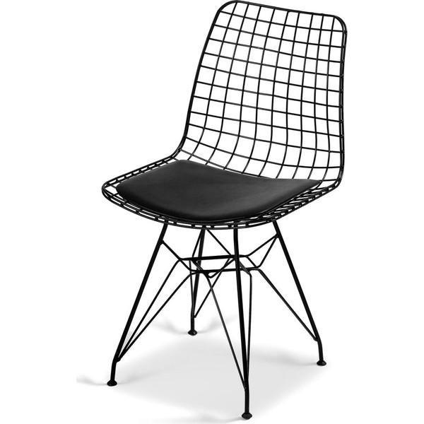hepsiburada home siyah tel sandalye