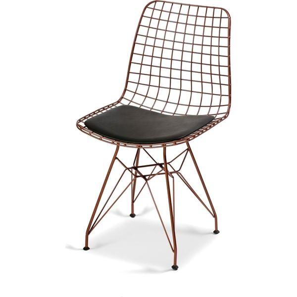 hepsiburada home bronz tel sandalye