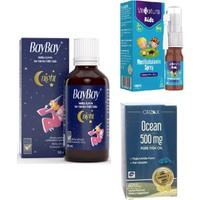 Baybay Çocuklar Için Set Baybay Night Da mla 50 ml + Ocean Balık Yağı 60 Kapsül + Venatura B12 Vitamini 5 ml