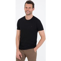 Pierre Cardin Siyah Slim Fit Bisiklet Yaka Basic T-Shirt 50239845-VR046