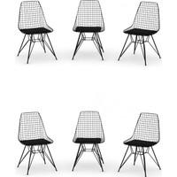 Wood House Liva 6 Lı Sandalye Siyah