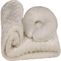 Özdilek Tomurcuk Bebek Battaniyesi Krem + Boyun Yastığı