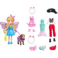 Polly Pocket ve Hayvan Dostu Kostüm Giyiyor Oyun Seti, Bebek, Evcil Hayvan ve Kostümlü Paket GDM15