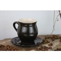 Adamodart Kahve Çekirdeği Tasarım Seramik Fincan