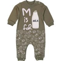 Tox Milk Baskılı Haki Bebek Tulum (3,6,9 Ay)