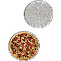 Hitfoni Delikli Pizza Tepsisi Lahmacun Pide Tepsisi 32 cm. 2 Adet