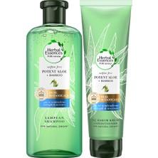 Herbal Essences Sülfatsız Güç ve Nem Aloe + Bambu şampuan 380 ml + Saç Bakım Kremi 275 ml