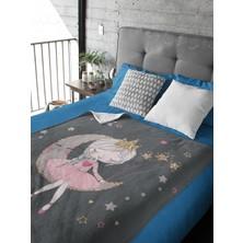 Kiparis Ayda Kız Desen Polar Battaniye Çocuk Battaniye