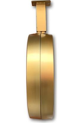 Platin Saat 36 cm Gold Metal Klasik Istasyon Tavan Saati