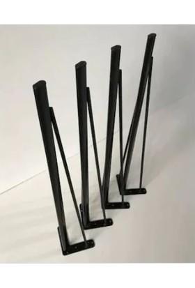 Abronya Metal Masa Ayağı Firkete Ayak Yemek Masası Dresuar Ayak Modelleri 85 cm 1 Adet