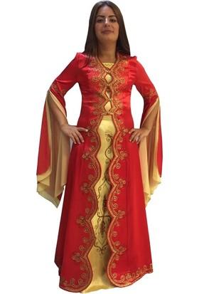 Dilek Kostüm Kına Kıyafeti Bindallı Kaftan Gelin Kaftanları Modelleri
