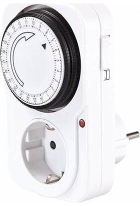 Viko Cata 9180 Zaman Ayarlı Priz Mekanik Zaman Saati 3500 Watt