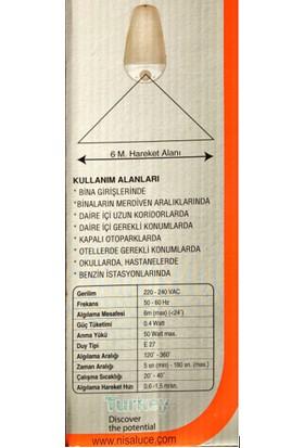 Elektrohan Çınar Duvar Aplik Dik Sensörlü Lamba ve LED Ampul Bir Arada Wc Tuvalet Banyo Teras Balkon Aydınlatması Eko Çözüm