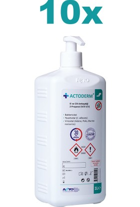 Actoderm® 1 Lt El ve Cilt Antiseptiği 10 X1 Lt + 5 Pompa