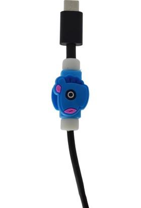 Genç Bilişim Mavi Unıcorn Desenli Kablo Koruyucu