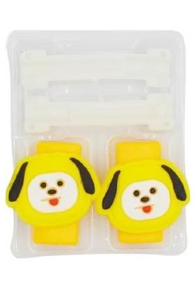 Genç Bilişim Sarı Köpek Desen Kablo Koruyucu