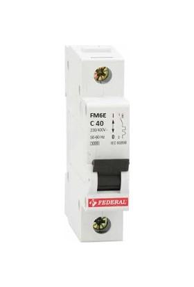 Federal 1X40A 6ka C Tipi Otomatik Sigorta 9EG-C0631-0D40