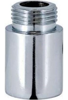 """Batarya Musluk Uzatması Krom 4 cm 3/4"""" Inç"""