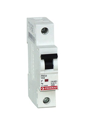 Federal 1X63A 10KA C Tipi Otomatik Sigorta 9EE-C1031-0D63