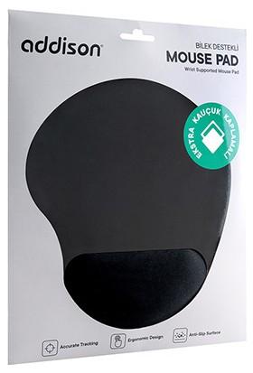 Addison 300152 Siyah Bileklikli Ekstra Kauçuk Kaplamalı Mouse Pad