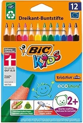 Bic Boyama Seti 6'lı Kuru Boya Jumbo, Pastel Boya Yağlı, Keçeli Kalem