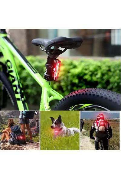 Robesbon Mavi-Kırmızı Çakarlı USB Şarjlı 100 Lümen Bisiklet Stop Lambası