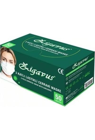 Zigavus 3 Katlı Cerrahi Maske 5 Kutu