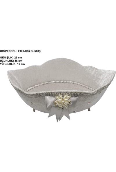 Dantelux Kadife Soft Gondol Havluluk 2175-C05 Gümüş - Gri
