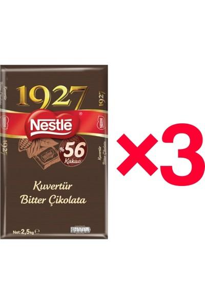 Nestle 1927 Bitter Kuvertür 2,5 kg X3